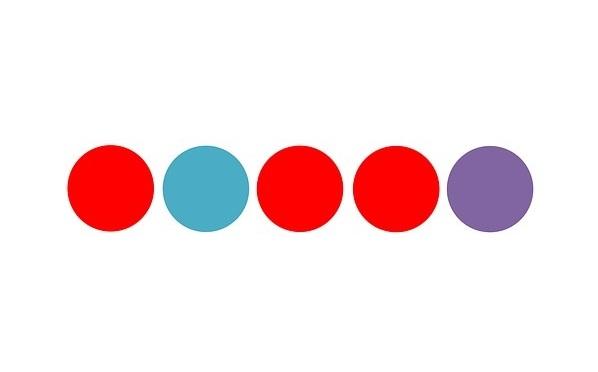 Five color circles