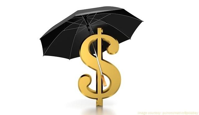 Umbrella dollar concept