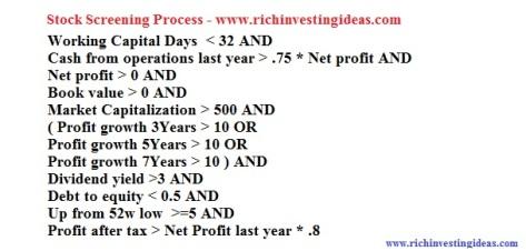 Stock Screening Process 1