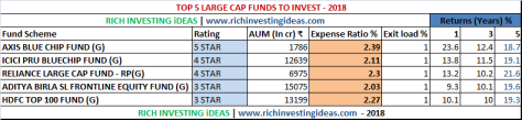 5 Best Large Cap Funds 2018