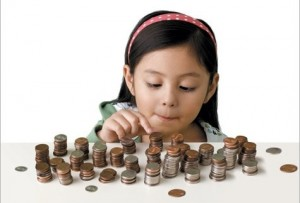 Young investing child